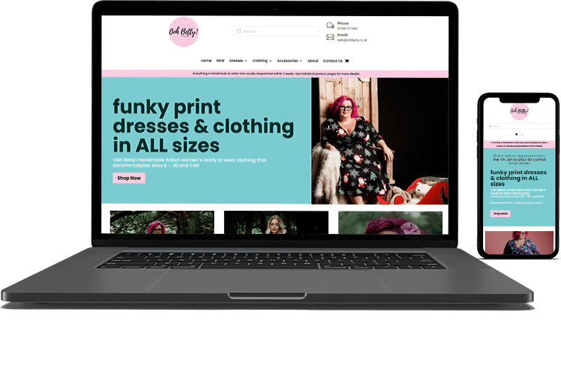 Ooh Betty E-commerce Web Design